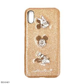 スマホケース ディズニー Disny ミッキー ミニー グーフィー スパークデコ ピンクゴールド ゴールド iPhoneケース アイフォンケース アイフォンケース iPhoneX/XS対応
