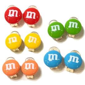 【クリックポスト対応 送料無料】単品1色 イヤリング m&m's1 アクセサリー プチプラ クリップイヤリング お菓子 チョコレート m&m's グッズ エムアンドエムズ