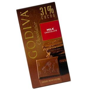 *クリックポスト対応* GODIVA ゴディバ 板チョコ ミルク(100g) バレンタイン 期間限定 冬限定 チョコレート
