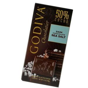 *クリックポスト対応* GODIVA ゴディバ 板チョコ ダークシーソルト(100g) バレンタイン 期間限定 冬限定 チョコレート