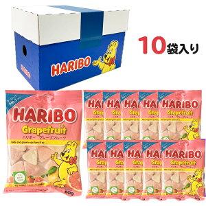 ハリボー HAOBO グミ グレープフルーツ 1ケース (80g x10) 1箱 人気 おやつ お菓子 こども 子供 歯の健康 詰め合わせ ケース買い まとめ買い 箱買い 送料無料 送料込み ケース付き グミマニア