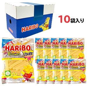 ハリボー HAOBO グミ サワーポテト 1ケース (80g x10) 1箱 人気 おやつ お菓子 こども 子供 歯の健康 詰め合わせ ケース買い まとめ買い 箱買い 送料無料 送料込み ケース付き グミマニア