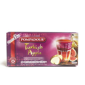 フルーツティー POMPADOUR アップルティー ハーブティー ティーカネン ポンパドール ターキッシュ アップル 10ティーバッグ
