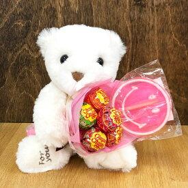 【一部地域を除く 送料無料】 キャンディブーケ ぬいぐるみ プレゼント ギフト 景品 お祝い クマ くま ぬいぐるみ お誕生日 お祝い プチギフト 入学祝い 入園祝い 新生活 送料込み