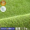 【コミコミ価格18780円】 【送料無料】人工芝 リアル人工芝 幅2m×長さ10m 芝丈38mm 密度1.9倍 ロール 庭 ガーデニン…