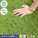 ◆6/20まで4,480円◆ 【送料無料】人工芝 リアル人工芝 幅1m×長さ5m 芝丈35mm 密度1.9倍 ロール 庭 ガーデニング ガ…