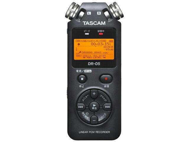 【即納可能】TASCAM DR-05 VER2-JJ 日本語メニュー表示/日本語パネルバージョン [DR-05VER2-JJ](新品)【送料無料】