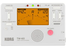 KORG チューナー メトロノーム TM-60 ホワイト [TM-60-WH](新品)【送料無料】【ゆうパケット利用】