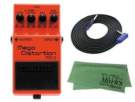 BOSS Mega Distortion MD-2 + 3m ギターケーブル VOX VGS-30 セット[マークス・オリジナルクロス付](新品)【送料無料】