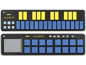 【即納可能】KORG nano2 シリーズ nanoKEY2 + nanoPAD2 2機種セット BLYL ブルー&イエロー(新品)【送料無料】
