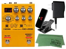 【即納可能】BOSS OD-200 + 純正ACアダプター PSA-100S2 + KORG Pitchclip 2 PC-2 + マークスオリジナルクロス セット(新品)【送料無料】