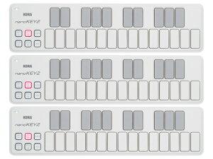 【まとめ買い】KORG nanoKEY2 WH ホワイト 3個セット(新品)【送料無料】