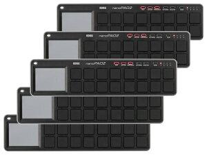 【まとめ買い】KORG nanoPAD2 BK ブラック 5個セット(新品)【送料無料】