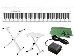 【即納可能】Roland FP-30X-WH + キーボードスタンド + チェア + マークスミュージック オリジナルクロス セット(新品)【送料無料】
