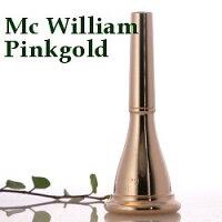 ホルンマウスピースマク・ウィリアム3アメリカンシャンクピンクゴールドメッキ