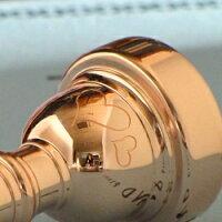 トランペットマウスピースV.Bachツインハート彫刻ピンクゴールドメッキ仕上げ