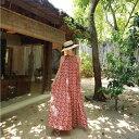 パンツドレス オールインワン リゾート ファッション 花柄 ワイドパンツ ジャンプスーツ シフォン ホルターネック 花柄 レッド イエロー ロング カジュアル きれいめ おしゃれ かわいい 大きいサイ