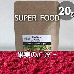 無添加♪無農薬栽培♪デビッドソンプラム(20g)乾燥果実のパウダー♪100%ナチュラル♪スーパーフード★抗酸化作用!食物繊維!スムージーやヨーグルトに♪お料理にも♪【メール便】