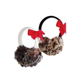 mud pie マッドパイFaux Fur Earmuffsレオパード(ヒョウ柄) 耳あてmudpie 大人可愛く防寒するイヤーマフラー  【marquee】