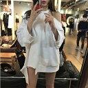 トップス ブラウス 長袖 ダボダボ ワンショルダー ホルターネック セクシー オフショルダー 韓国ファッション オルチ…