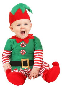 Christmas Elf 赤ちゃん 新生児 コスチューム ハロウィン 子ども コスプレ 衣装 仮装 こども イベント 子ども パーティ ハロウィーン 学芸会 学園祭 学芸会 ショー お遊戯会 二次会 忘年会 新年会