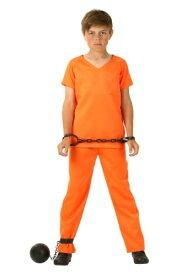 Boy's Orange Prisoner コスチューム ハロウィン 子ども コスプレ 衣装 仮装 こども イベント 子ども パーティ ハロウィーン 学芸会 学園祭 学芸会 ショー お遊戯会 二次会 忘年会 新年会 歓迎会 送迎会 出し物 余興 誕生日 発表会 バレンタイン ホワイトデー