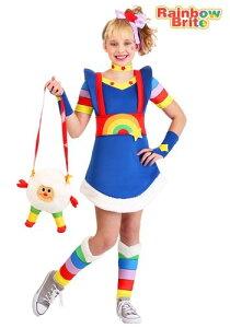 Rainbow Brite 女の子's コスチューム ハロウィン 子ども コスプレ 衣装 仮装 こども イベント 子ども パーティ ハロウィーン 学芸会 学園祭 学芸会 ショー お遊戯会 二次会 忘年会 新年会 歓迎会