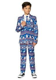 Suitmeister Christmas Blue Nordic 男の子's Suit ハロウィン 子ども コスプレ 衣装 仮装 こども イベント 子ども パーティ ハロウィーン 学芸会 学園祭 学芸会 ショー お遊戯会 二次会 忘年会 新年会 歓迎会 送迎会 出し物 余興 誕生日 発表会 バレンタイン ホワイトデー
