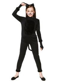 ブラック Cat コスチューム for 女の子s ハロウィン 子ども コスプレ 衣装 仮装 こども イベント 子ども パーティ ハロウィーン 学芸会 学園祭 学芸会 ショー お遊戯会 二次会 忘年会 新年会 歓迎会 送迎会 出し物 余興 誕生日 発表会 バレンタイン ホワイトデー