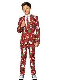 Suitmeister Christmas レッド Light Up 男の子's Suit ハロウィン 子ども コスプレ 衣装 仮装 こども イベント 子ども パーティ ハロウィーン 学芸会