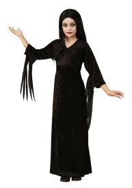 The Addams Family Morticia チャイルド コスチューム ハロウィン 子ども コスプレ 衣装 仮装 こども イベント 子ども パーティ ハロウィーン 学芸会