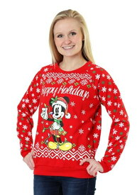 【4日〜 全品P5倍 クーポン有】The Mickey Mouse Happy Holidays Juniors Light Up Sweater ハロウィン 子ども コスプレ 衣装 仮装 こども イベント 子ども パーティ ハロウィーン 学芸会