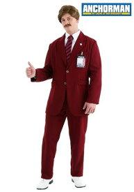 デラックス Ron Burgundy コスチューム Suit ハロウィン メンズ コスプレ 衣装 男性 仮装 男性用 イベント パーティ ハロウィーン 学芸会