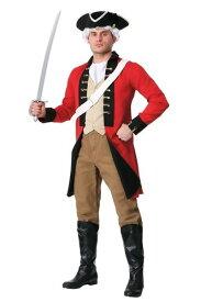 大きいサイズ 大人用 British レッド Coat コスチューム ハロウィン メンズ コスプレ 衣装 男性 仮装 男性用 イベント パーティ ハロウィーン 学芸会