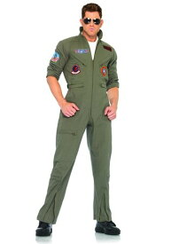Men's Top Gun Flight Suit コスチューム ハロウィン メンズ コスプレ 衣装 男性 仮装 男性用 イベント パーティ ハロウィーン 学芸会