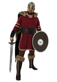 Men's Burgundy Viking コスチューム ハロウィン メンズ コスプレ 衣装 男性 仮装 男性用 イベント パーティ ハロウィーン 学芸会