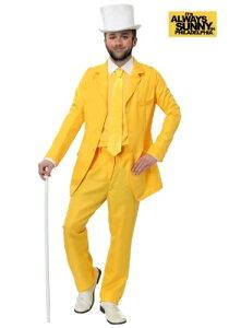 Always Sunny Dayman Yellow Suit 大きいサイズ コスチューム ハロウィン メンズ コスプレ 衣装 男性 仮装 男性用 イベント パーティ ハロウィーン 学芸会