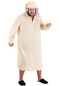 大きいサイズ Humbug Nightgown コスチューム for Men ハロウィン メンズ コスプレ 衣装 男性 仮装 男性用 イベント パーティ ハロウィーン 学芸会