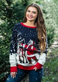 大人用 Vintage Santa & Reindeer Ugly Christmas Sweater ハロウィン メンズ コスプレ 衣装 男性 仮装 男性用 イベント パーティ ハロウィーン 学芸会