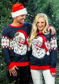 大人用 Vintage Santa Ugly Christmas Sweater ハロウィン メンズ コスプレ 衣装 男性 仮装 男性用 イベント パーティ ハロウィーン 学芸会