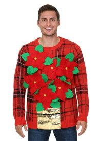 Poinsettia Ugly Christmas Sweater ハロウィン メンズ コスプレ 衣装 男性 仮装 男性用 イベント パーティ ハロウィーン 学芸会