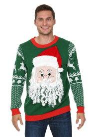 3D Santa Face Ugly Christmas Sweater ハロウィン メンズ コスプレ 衣装 男性 仮装 男性用 イベント パーティ ハロウィーン 学芸会