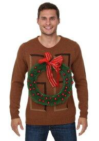 Christmas Wreath Door Ugly Christmas Sweater ハロウィン メンズ コスプレ 衣装 男性 仮装 男性用 イベント パーティ ハロウィーン 学芸会