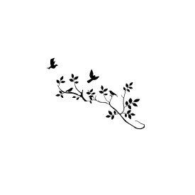 Black DIY Art Soldier ウォールデコ ウォールステッカー インテリア 壁 シール デコレーション Bird 木 Home Stickers ビニール Paper