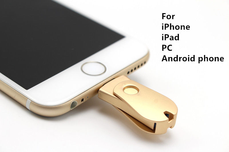 64GB フラッシュメモリ 日本語説明書付き USBメモリ Lightning ライトニング microUSB マイクロUSB iphone アイフォン 対応 3色 スマホ PC バックアップ iPhone Android Phone/PC