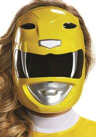 Power Rangers 大人用 Yellow Ranger マスク クリスマス ハロウィン コスプレ 衣装 仮装 小道具 おもしろい イベント パーティ ハロウィーン 学芸会