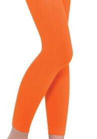 Orange Footless Tights for a チャイルド クリスマス ハロウィン コスプレ 衣装 仮装 小道具 おもしろい イベント パーティ ハロウィーン 学芸会 学園祭 学芸会 ショー お遊戯会 二次会 忘年会 新年会 歓迎会 送迎会 出し物 余興 誕生日 発表会 バレンタイン ホワイトデー