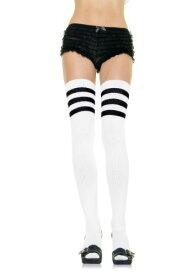 ホワイト Athletic Socks with ブラック Stripes for Women クリスマス ハロウィン コスプレ 衣装 仮装 小道具 おもしろい イベント パーティ ハロウィーン 学芸会
