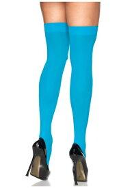 Neon Blue Thigh High Stockings クリスマス ハロウィン コスプレ 衣装 仮装 小道具 おもしろい イベント パーティ ハロウィーン 学芸会 学園祭 学芸会 ショー お遊戯会 二次会 忘年会 新年会 歓迎会 送迎会 出し物 余興 誕生日 発表会 バレンタイン ホワイトデー