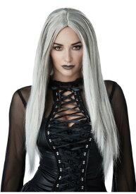 Gothic Grey Womens ウィッグ ハロウィン コスプレ 衣装 仮装 小道具 おもしろい イベント パーティ ハロウィーン 学芸会